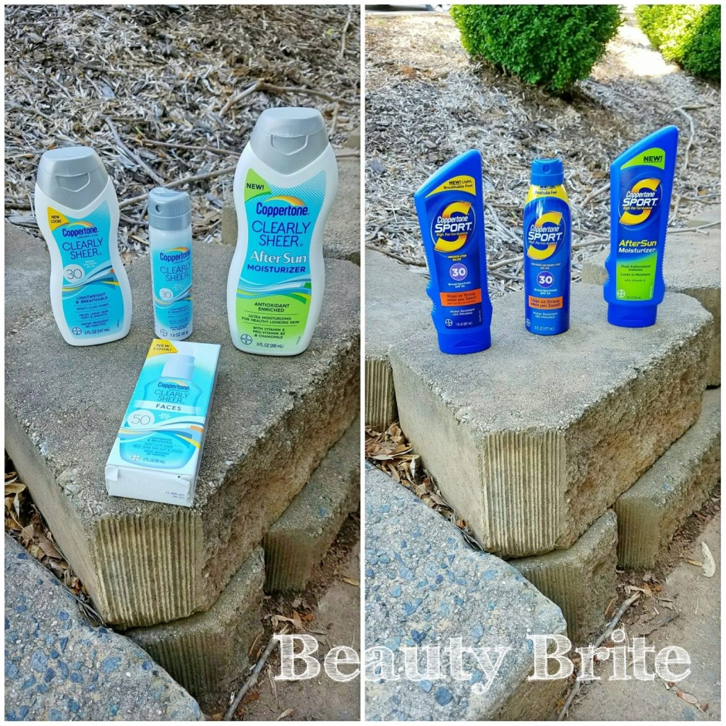Coppertone Sunscreens Side By Side
