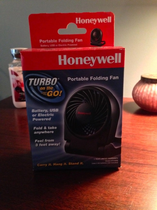 My Favorite Ways To Use A Portable Fan - Honeywell Turbo Portable Folding Fan