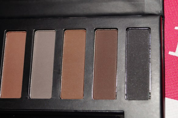 Närbilder från vänster till höger i paletten