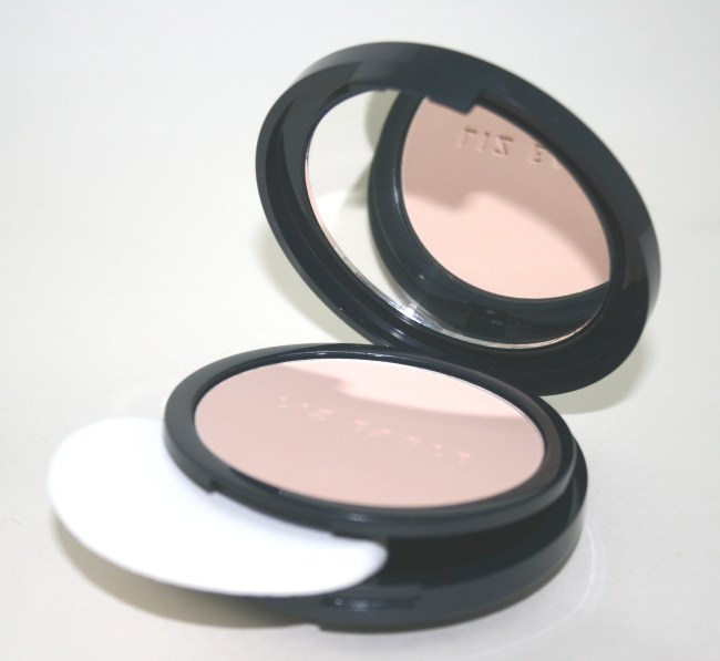 Liz Earle Perfect Finish Powder Foundation open with applicator