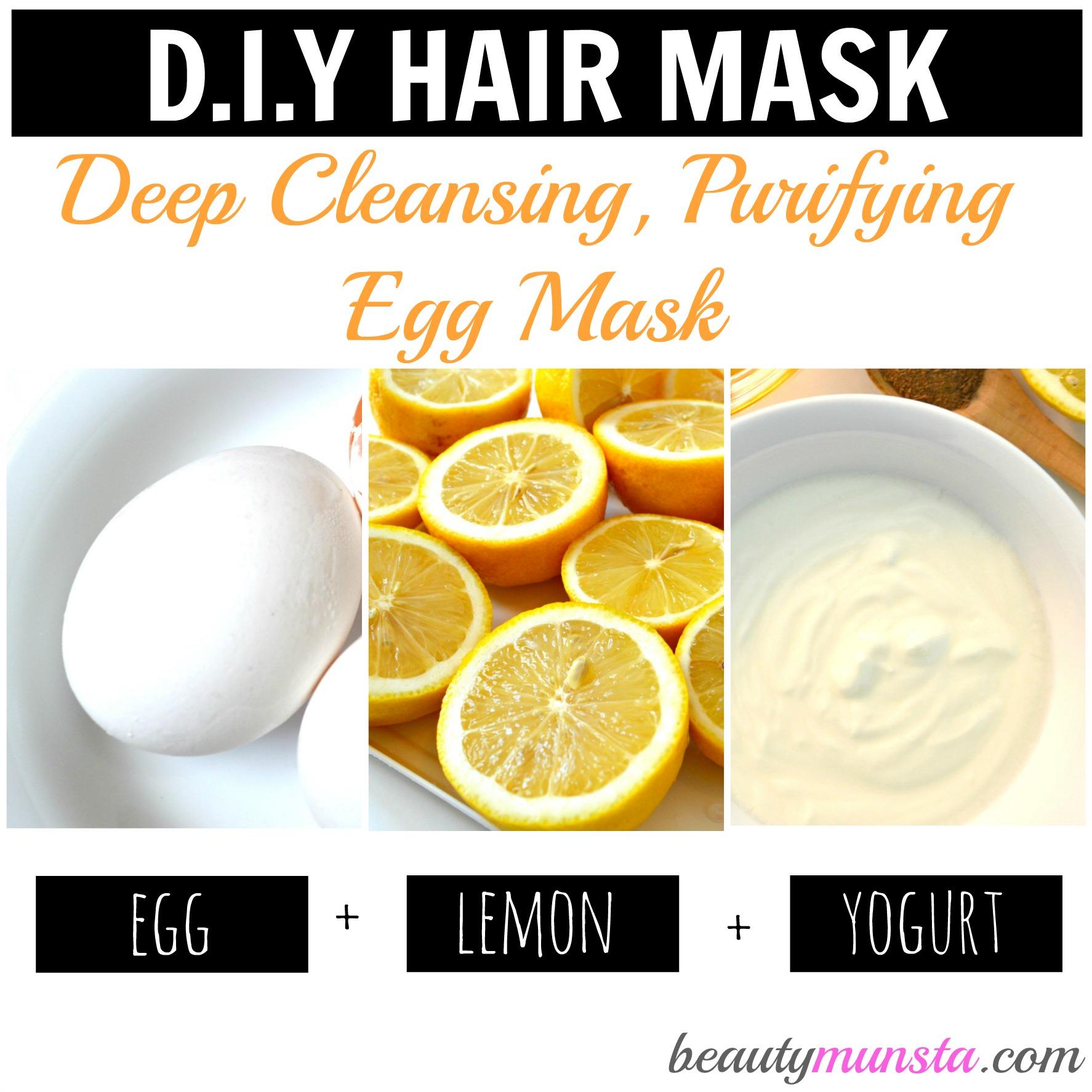 egg yolk hair mask