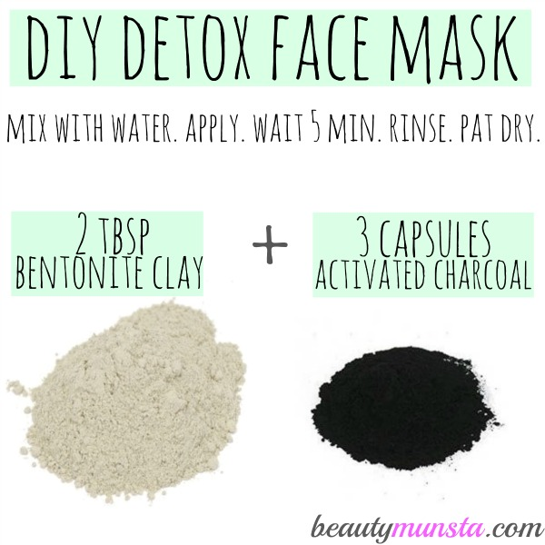 Diy Charcoal Face Mask: Bentonite Clay And Activated Charcoal Face Mask