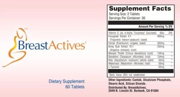 Breast Actives Supplement Ingredients