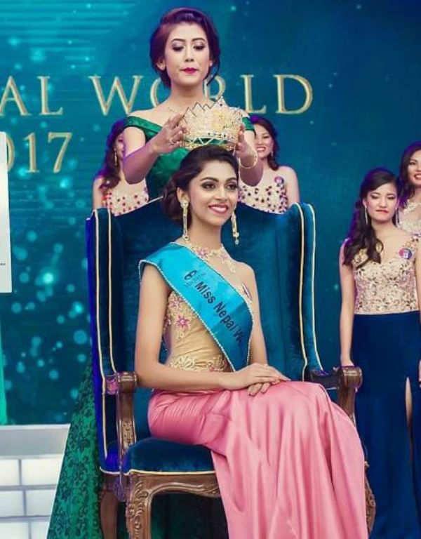 nikita chandak crowned miss world nepal 2017