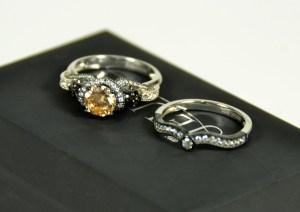 jeulia skull ring two piece