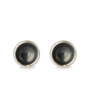 Flotsam Tiny Stud Earrings – Black