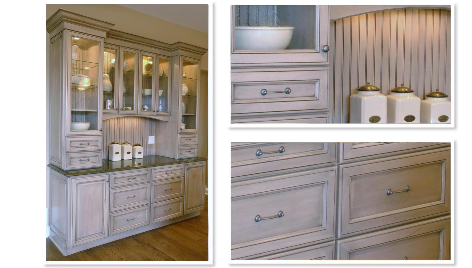 white kitchen cabinets with stained trim staining kitchen cabinets Rustic