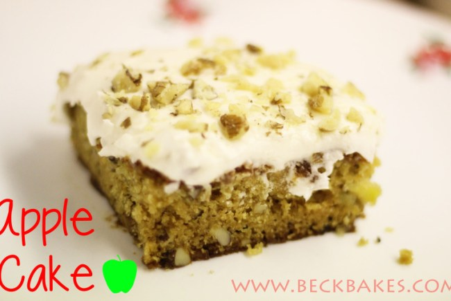 Apple Cake with Rich Icing