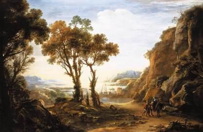 Rosa, Evening Landscape, 1640-ish