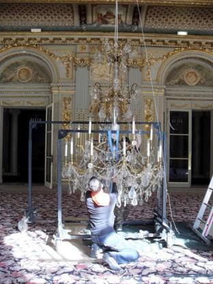 A symbolic chandelier