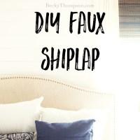 """Easy"" DIY Faux Shiplap Wall Tutorial"