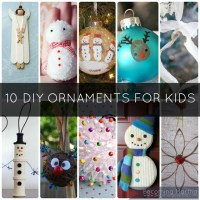{5+5 Fridays} 10 Fun DIY Kids Christmas Ornaments to Create Together