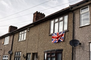 Window with Union Flag. Photo by Lewis Inman