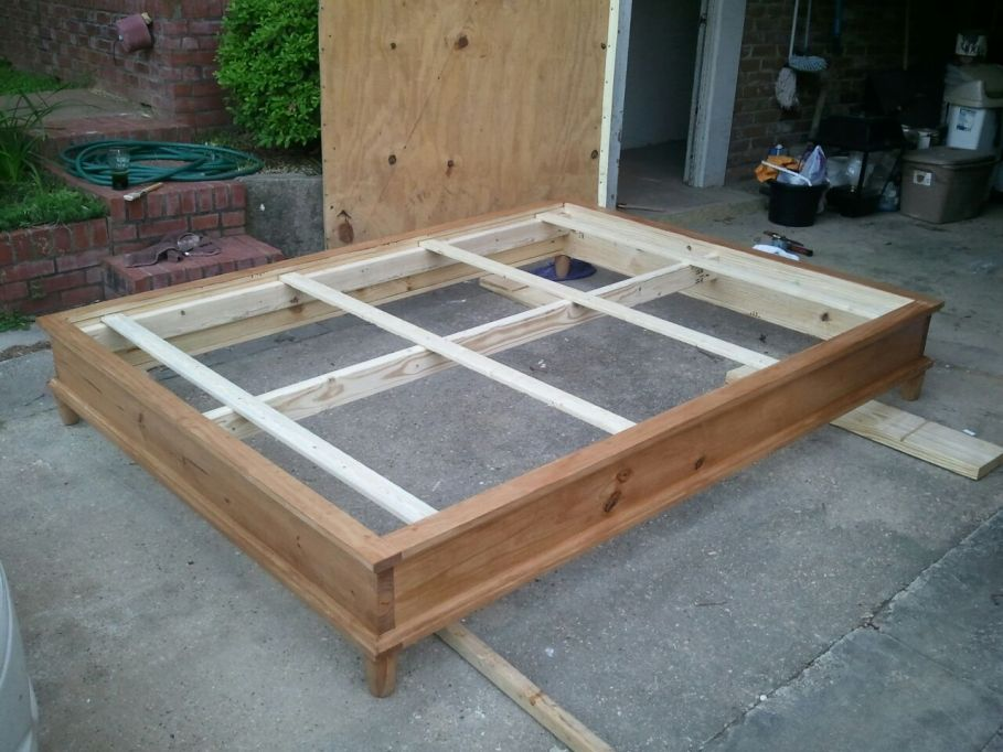 How to build a platform bed plans platform wood project and diy - How to build a queen size bed frame with drawers ...