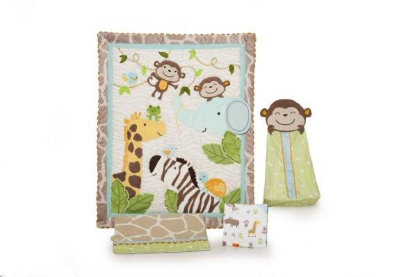 monkey crib bedding sets. Black Bedroom Furniture Sets. Home Design Ideas