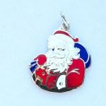 holidays,silver, jewelry, christmas. santa, vintage