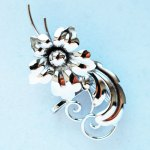 Sterling Silver, Jewelry, brooch, flower