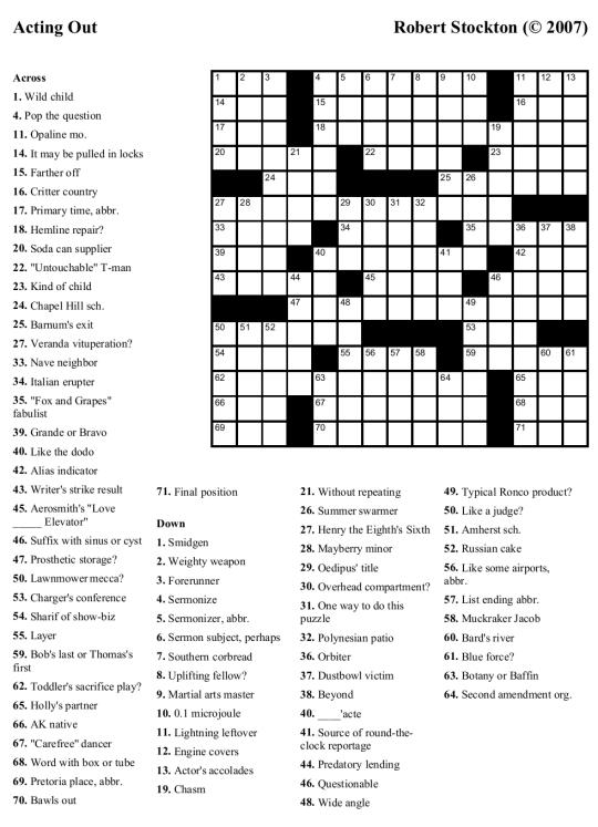 will shortz crosswords free printable