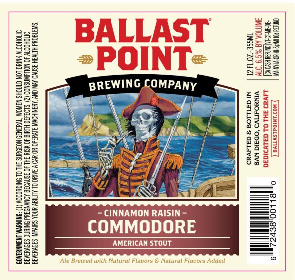 Ballast Point Cinnamon Raisin Commodore