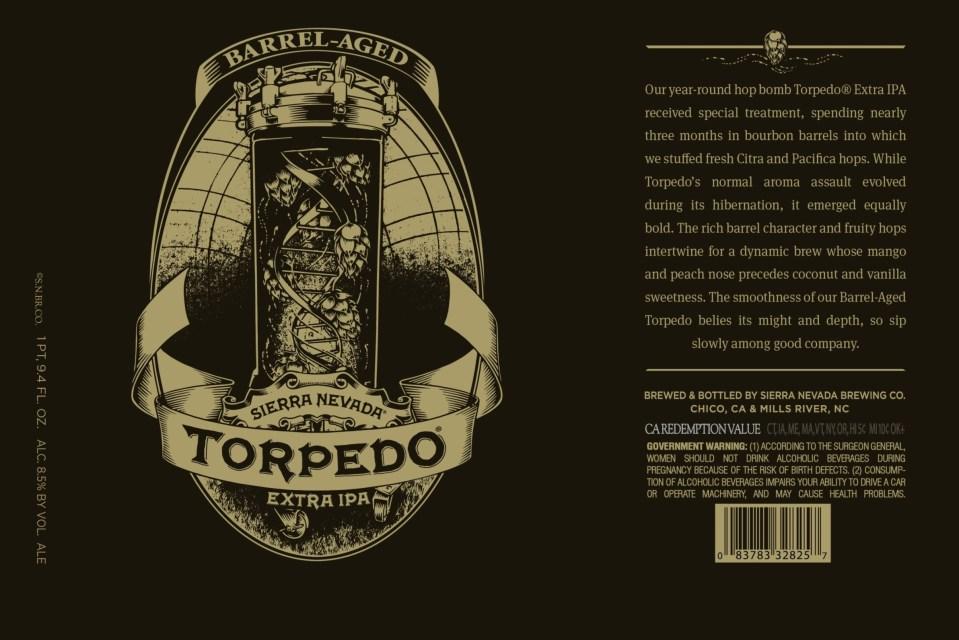 Sierra Nevada Barrel Aged Torpedo Celebrates Torpedo Room