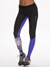 print zwart paars sportbroek strak tight - nlysport collectie - workout gear - trendy sportkleding - be fit and fashionable