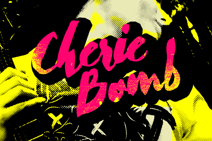 Cherie bomb Font Download