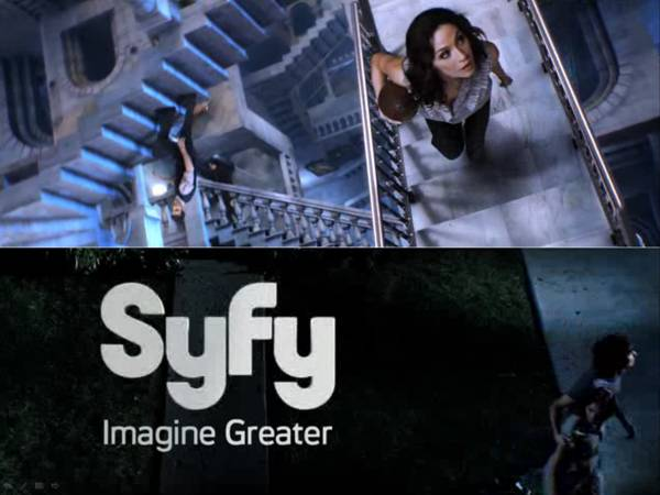 "Screen captures from http://www.syfy.com/imaginegreater/. A distorted disorienting funhouse with no discernible direction or exit. Welcome to ""Siffy""."