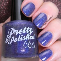 Pretty & Polished I'll Be Your Huckleberry nail polish swatch + review