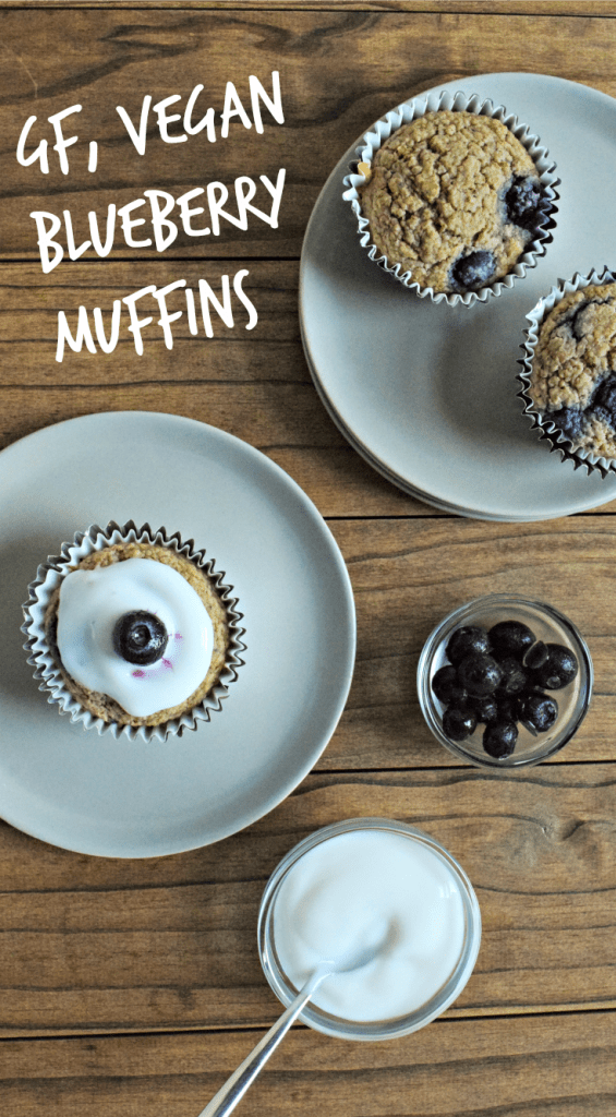 Blueberry Muffins | A gluten-free and vegan recipe perfect for breakfast or a snack.