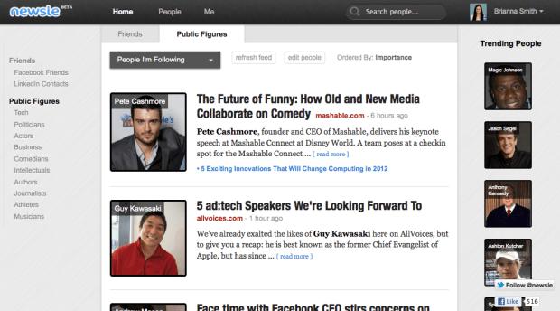 Newsle Homepage