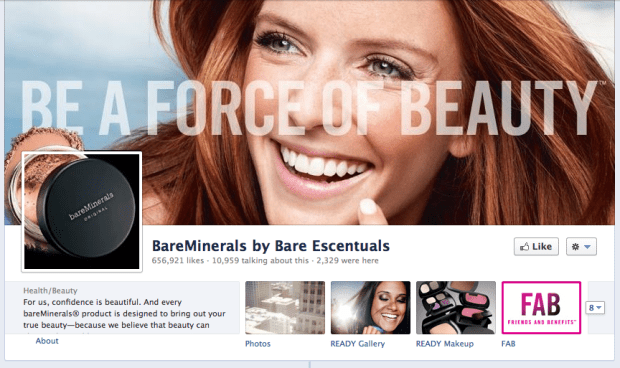 BareMinerals Facebok Cover Photo