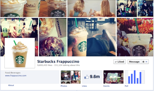 Starbucks Frappacino Facebook Cover Photo
