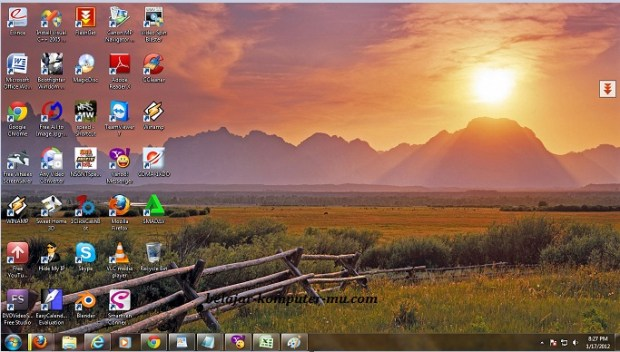 cara mengganti tema windows 7 seven