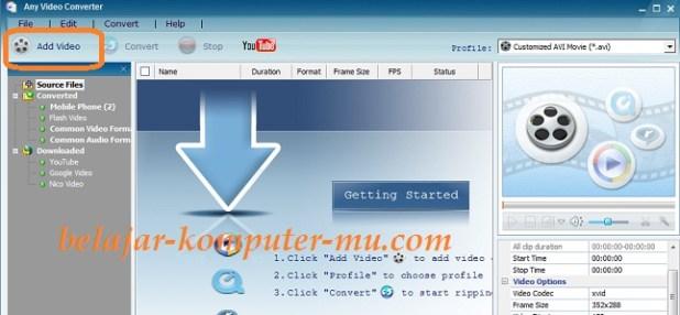 cara mengecilkan ukuran file video