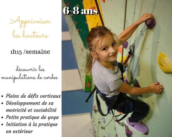 cours d'escalade pour les 6-8 ans à Belcaire