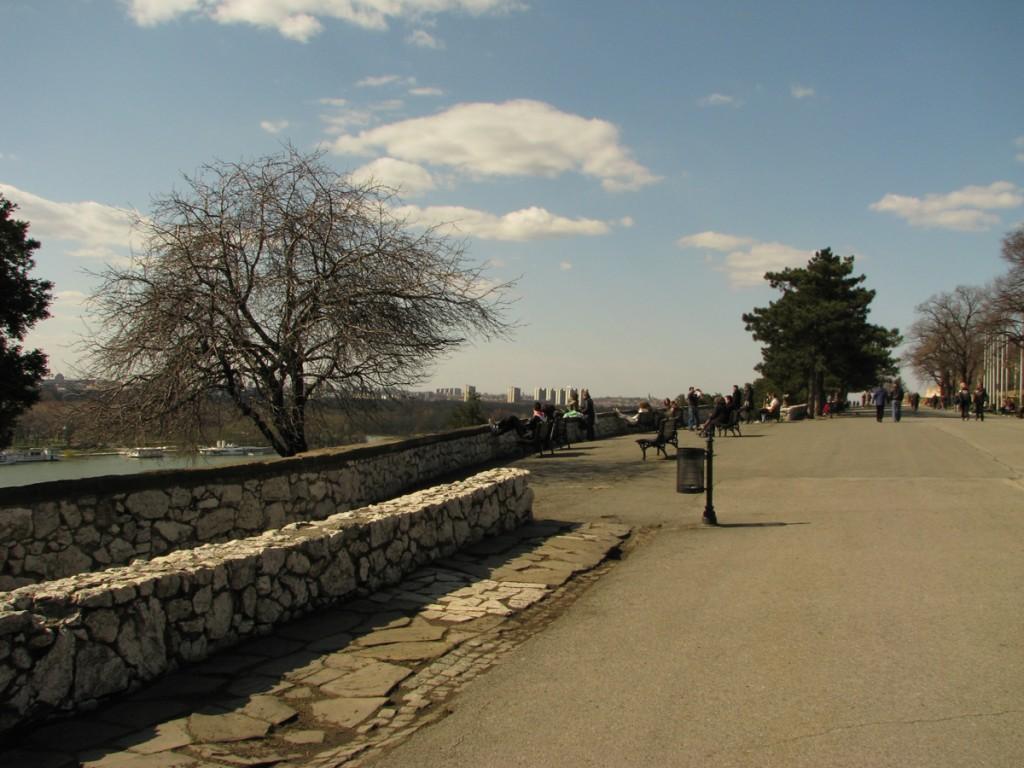 Sava promenade at Kalemegdan park