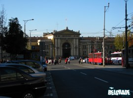 Main entrance to Belgrade train station