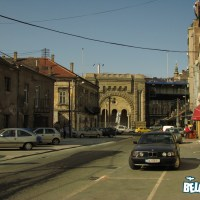 Braće Krsmanovića street and the pillar of the Brankov Bridge