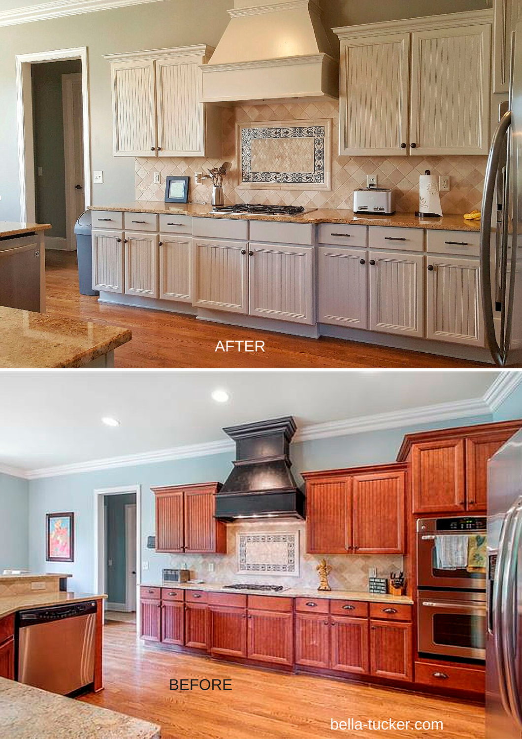 before and after photos spray painting kitchen cabinets Kitchen Cabinet Painting Franklin TN before and after