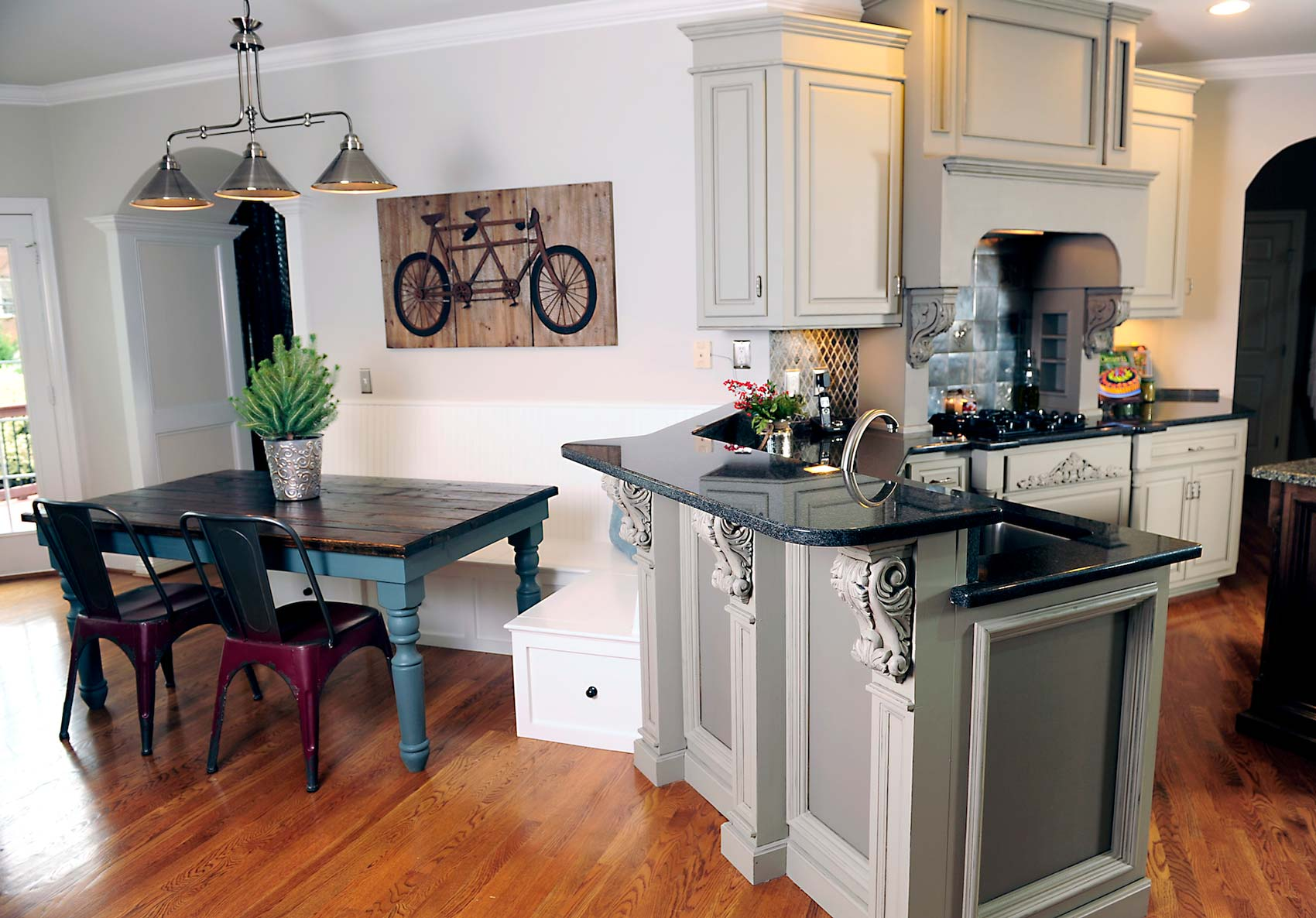 have you considered grey kitchen cabinets gray kitchen cabinets Painted Gray Cabinets by Bella Tucker Decorative Finishes