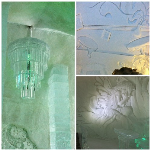 Ice Hotel Details Collage