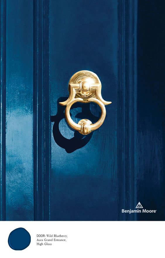 Would be a lovely entrance into your blue and gold kitchen...