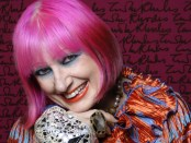 Zandra Rhodes by Gene Nocon