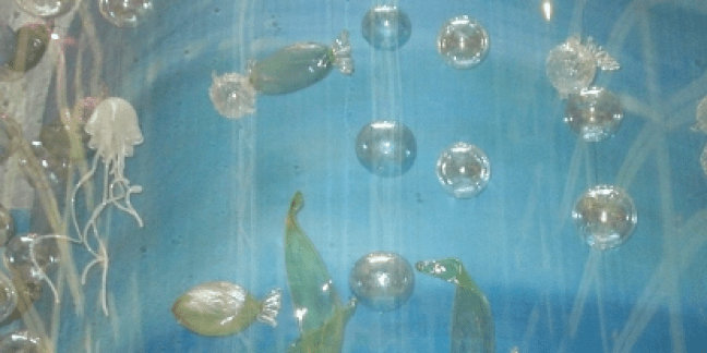 SeaWorld installation by Belle Mead Hot Glass