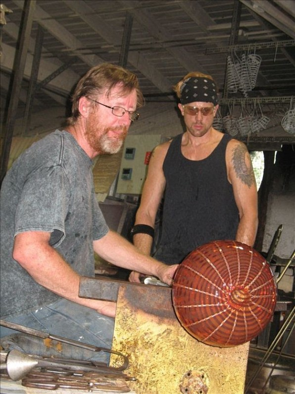 Robert Kuster Belle, Mead Hot Glass, Hillsborough New Jersey,Parx Casino