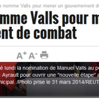 M. #Valls: un «Gouvernement de combat» partout, la bataille nulle part ... #remaniement
