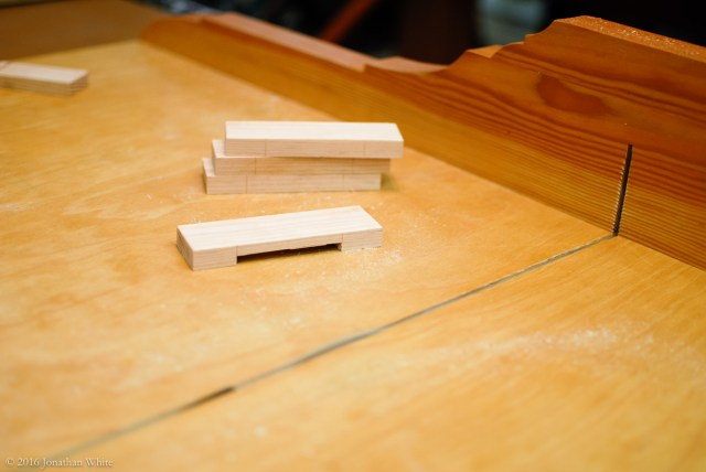 Door stops, made on the crosscut sled.