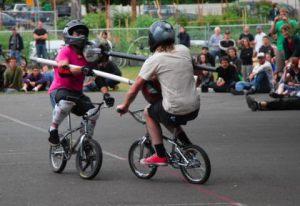 BMX jousting