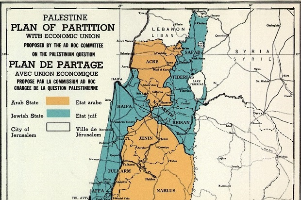 UN voted to partition Palestine 68 years ago, in an unfair plan made even worse by Israel's ethnic cleansing