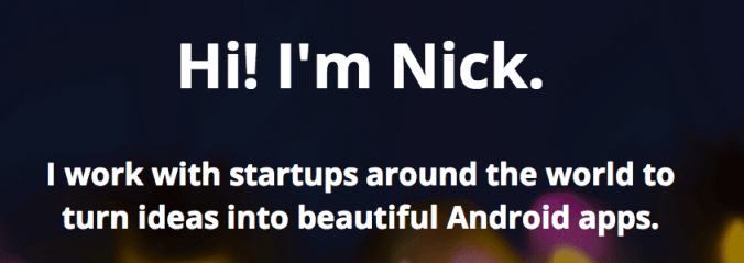 How I Went Freelance: Nick Nicoloau